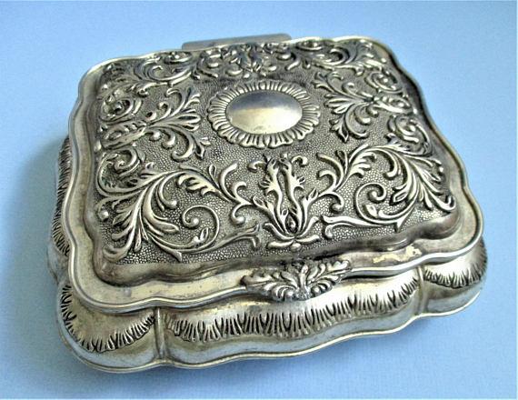 Ornate Silver Jewelry Box