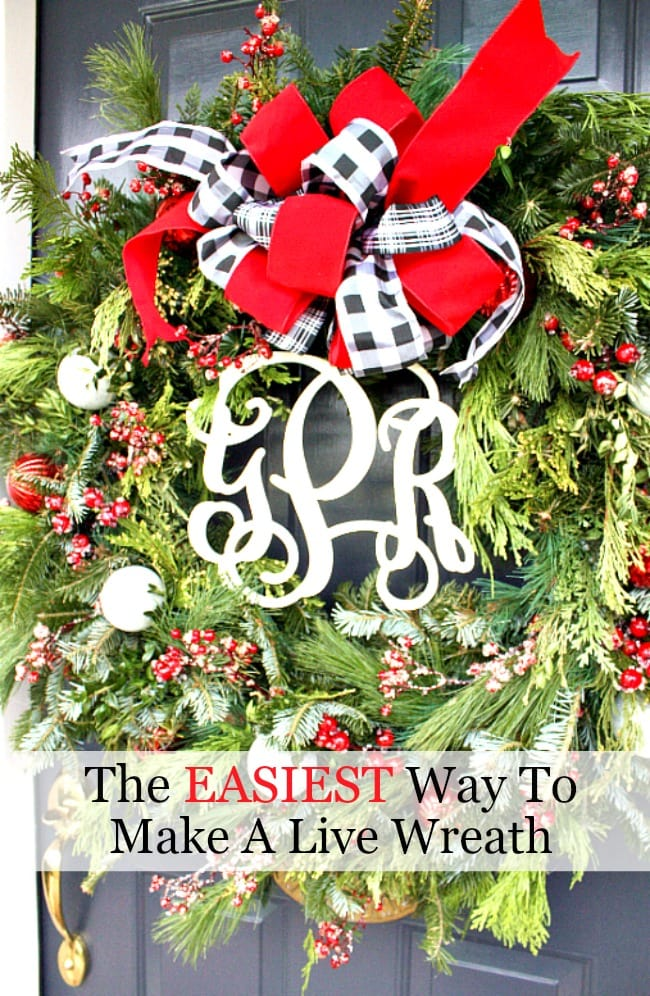 EASIEST WAY TO MAKE A LIVE WREATH TITLE PAGE