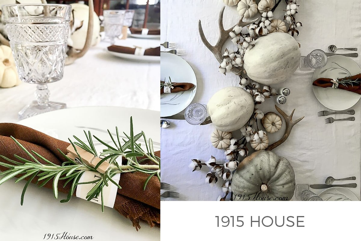 No Fuss Thanksgiving Tablescape 1915 House On Instagram