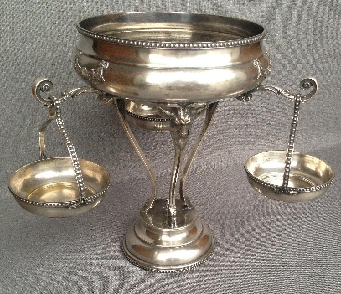 Antique french caviar bowl set