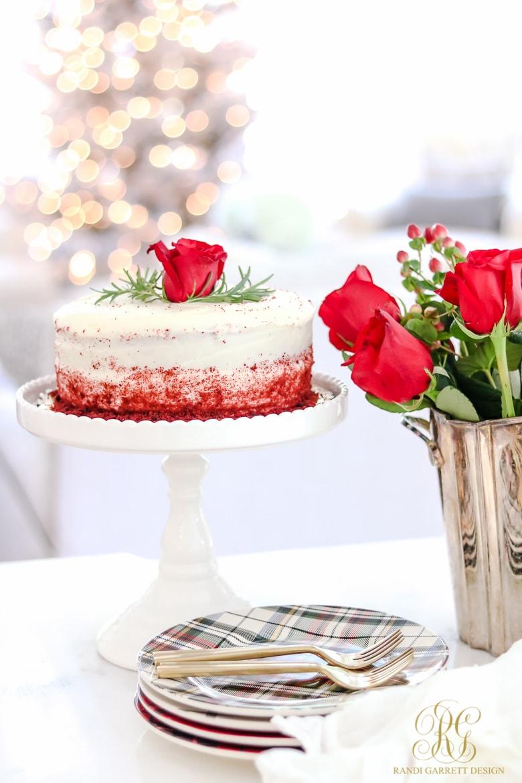 Beautiful Christmas Dessert - Christmas Plates