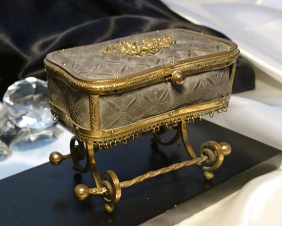 Bronze Louis XV Ormolu Jewelry Casket