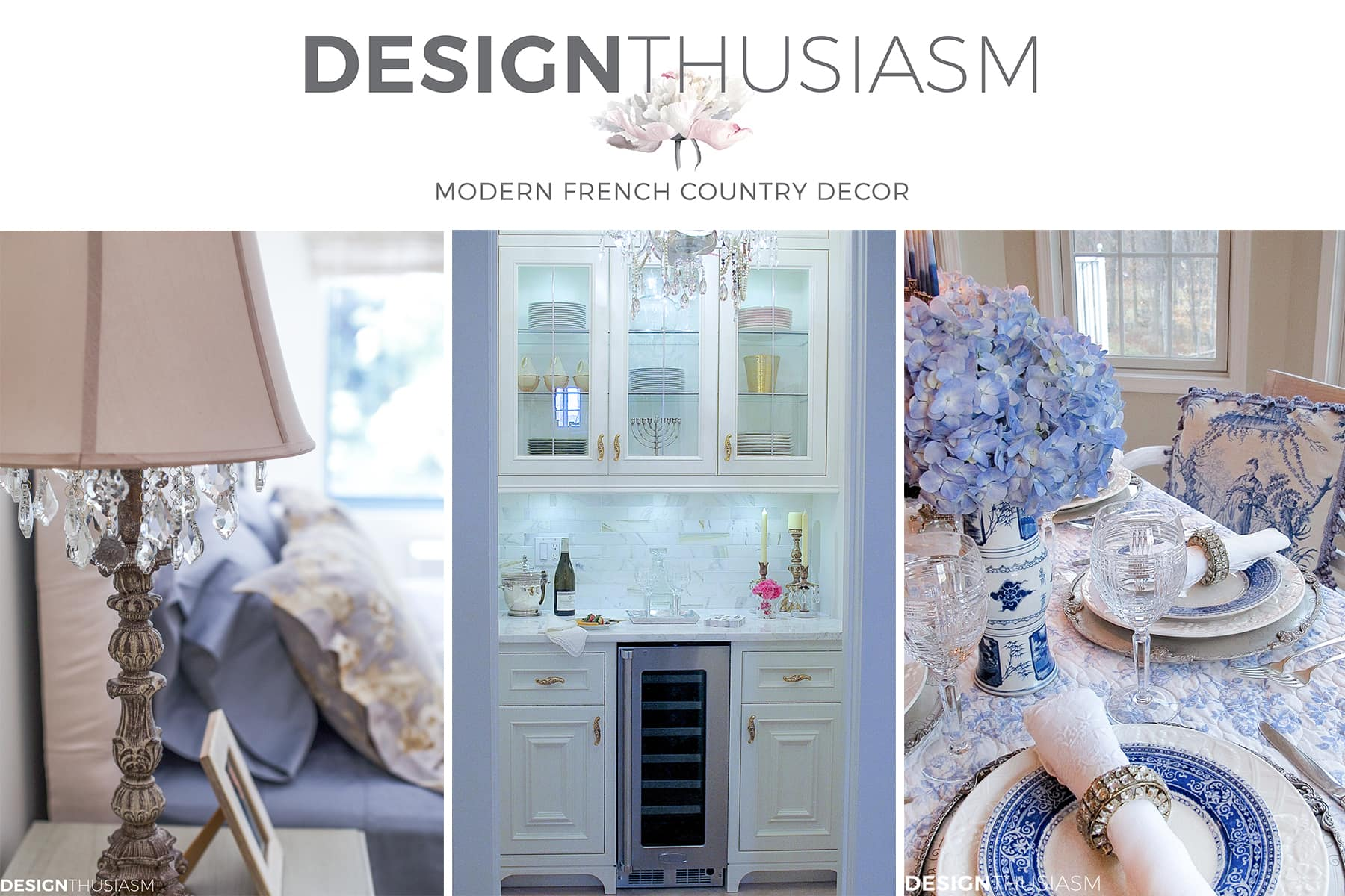 Designthusiasm.com - Modern French Country Decor