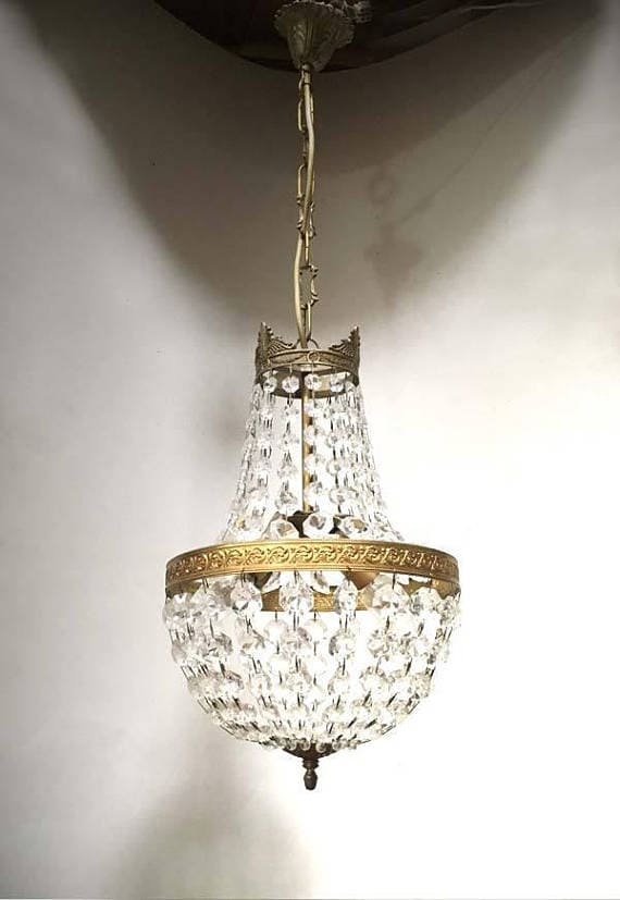 French Gilted Bronze Chandelier