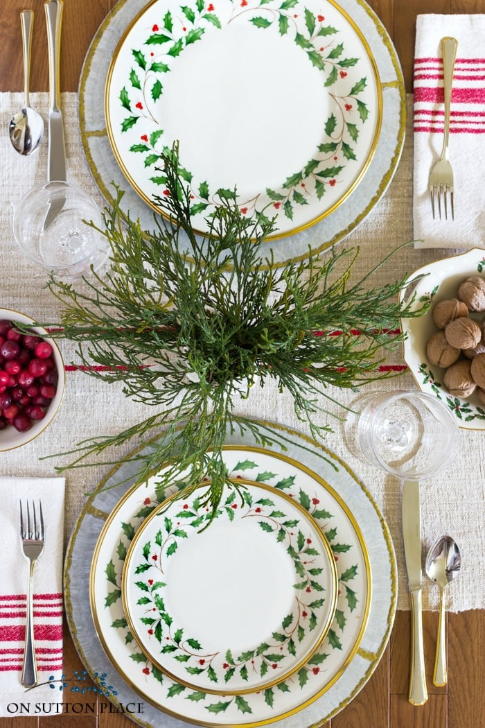On Sutton Place Christmas Tablescape Ideas