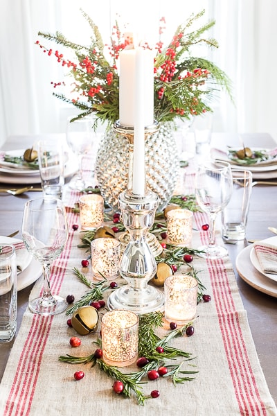mercury glass christmas tablescape bless'er house