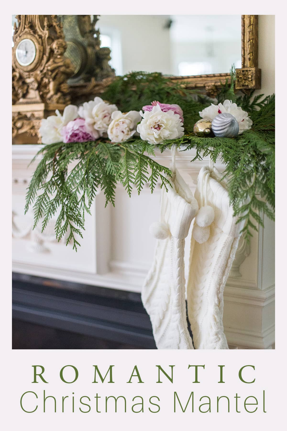 Romantic Christmas Mantel Garland