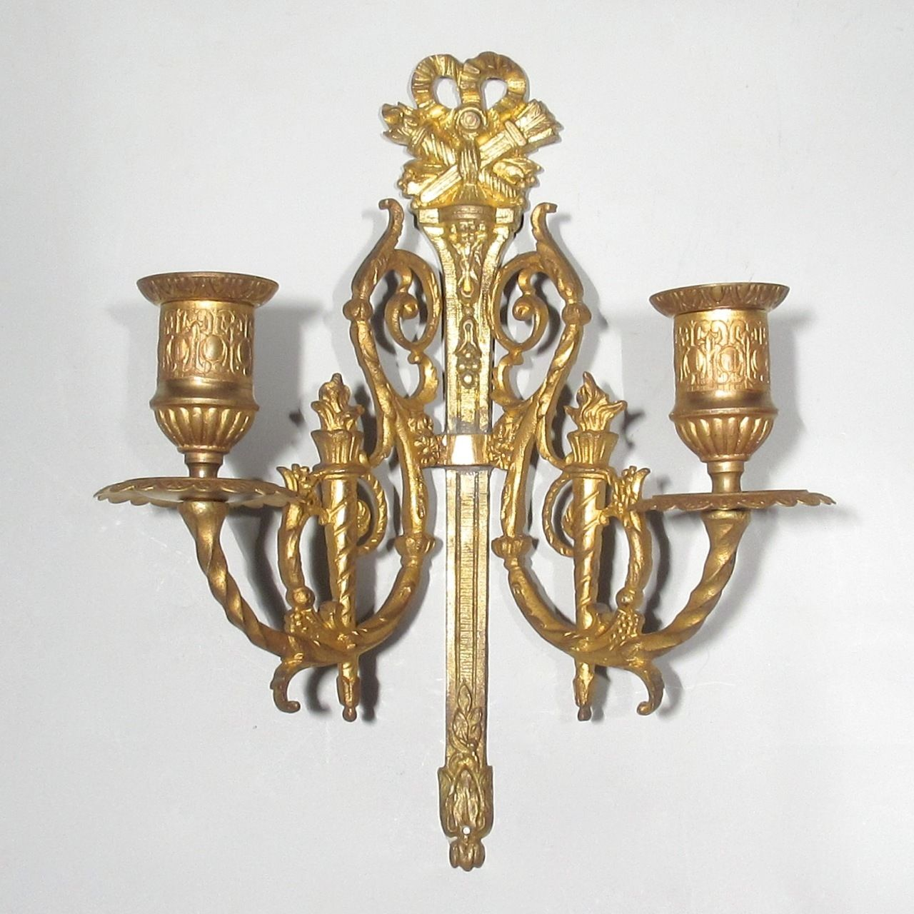 Antique French Gilded Bronze Sconce