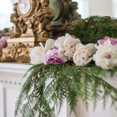 Romantic Holiday Decorating with a Christmas Mantel Garland