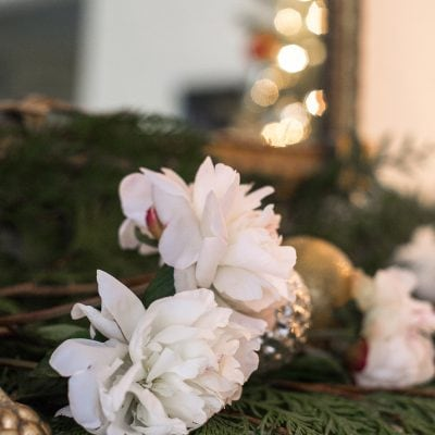 Adding Cheer to the Family Room with a Slim Christmas Tree