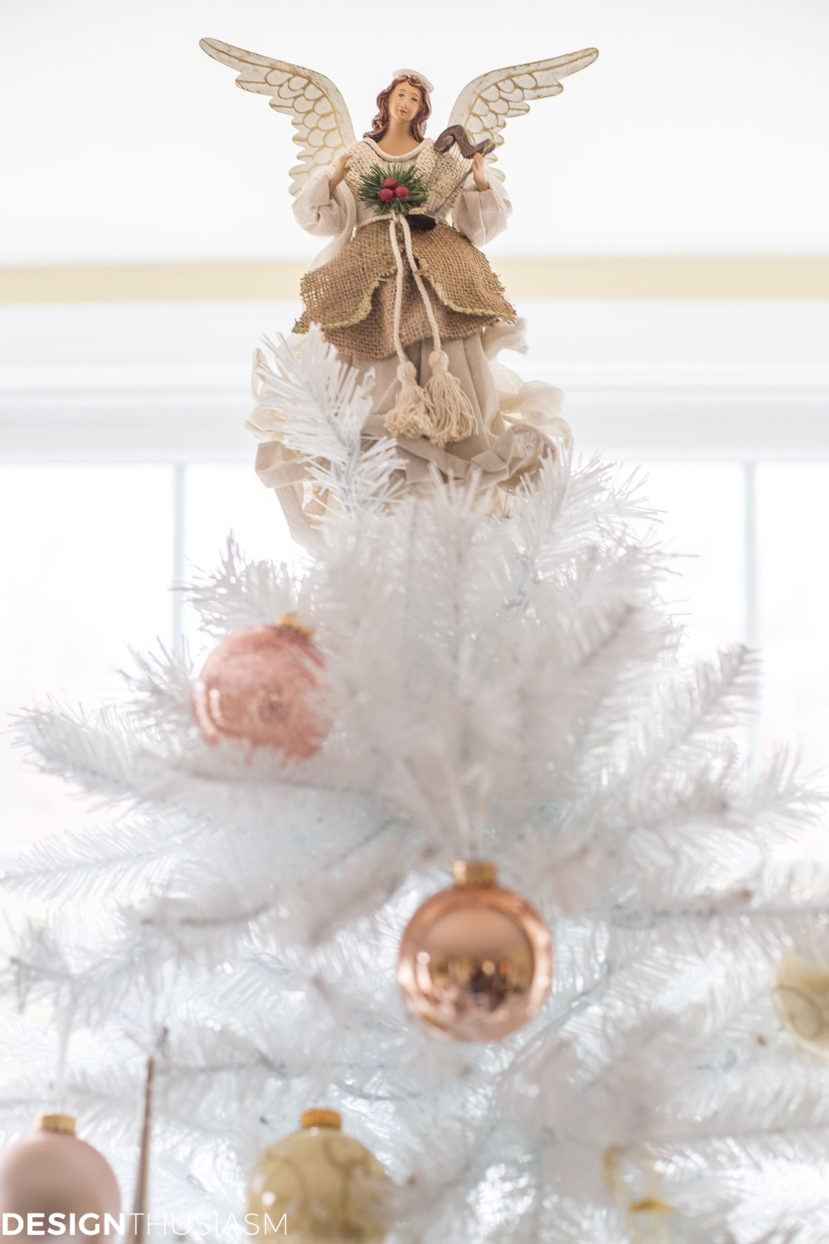 Complementing Your French Style With a White Christmas Tree - designthusiasm.com