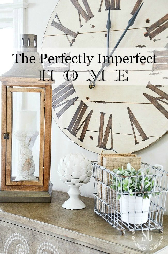 THE PERFECTLY IMPERFECTLY HOME- title page-stonegableblog.com