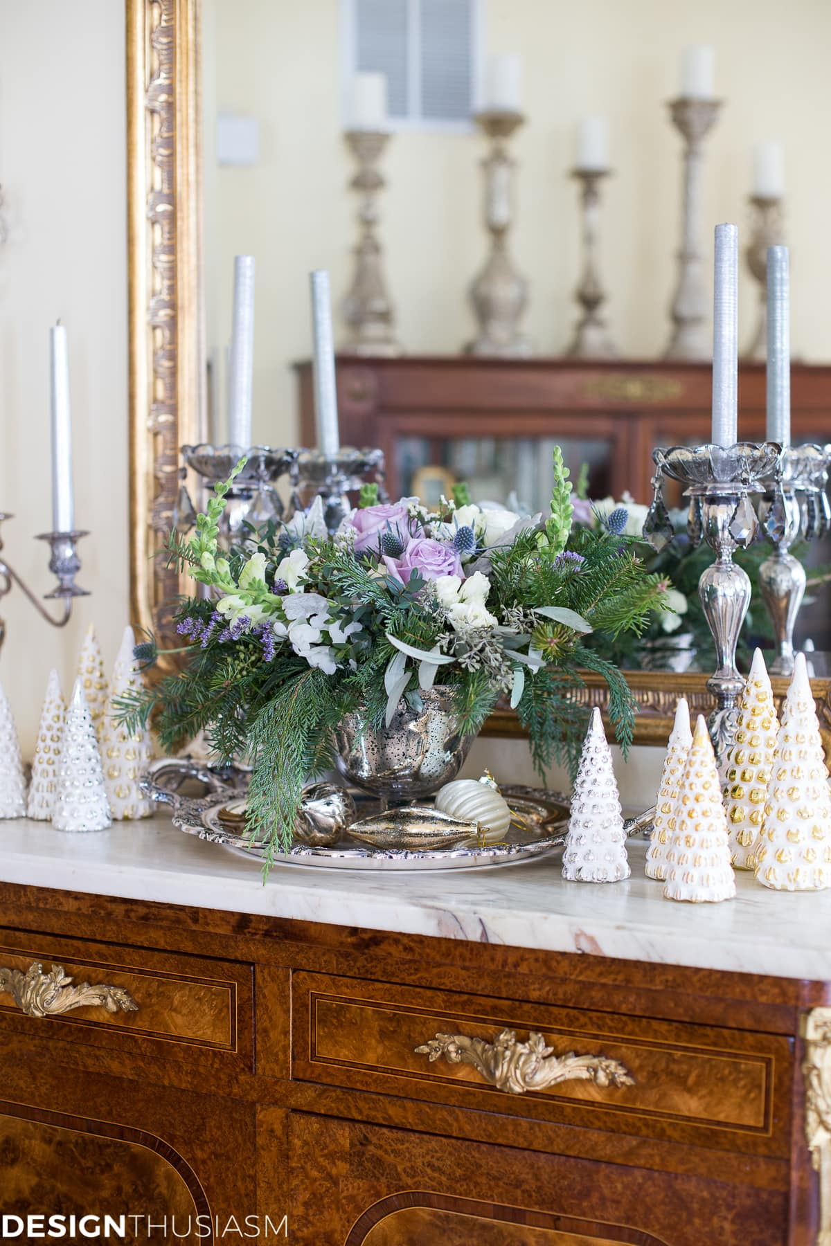 Transitioning to Winter Decor After Christmas - designthusiasm.com