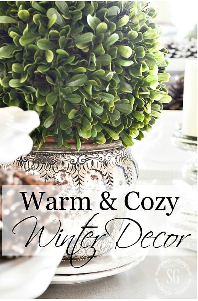 WARM AND COZY WINTER DECOR-title page-stonegableblog