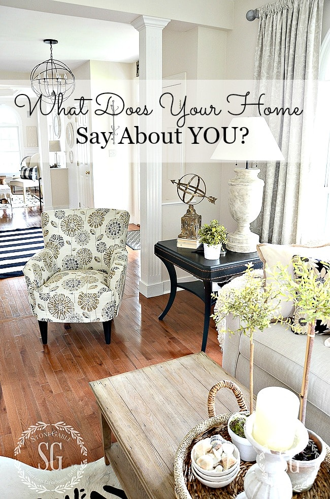 CURATING YOUR DECORATING STYLE-chair and foyer-stonegableblog.com