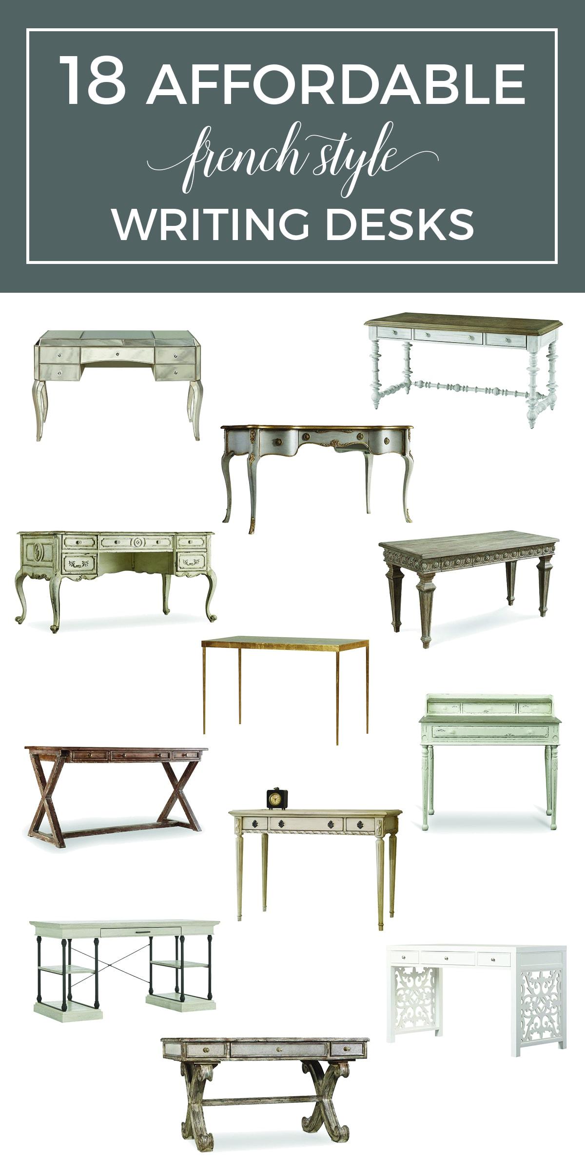 Affordable French Desks Shopping Guide - Designthusiasm.com