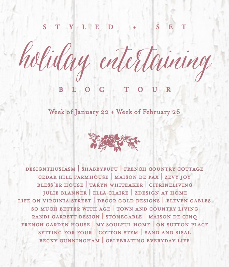 Holiday Entertaining Blog Tour.