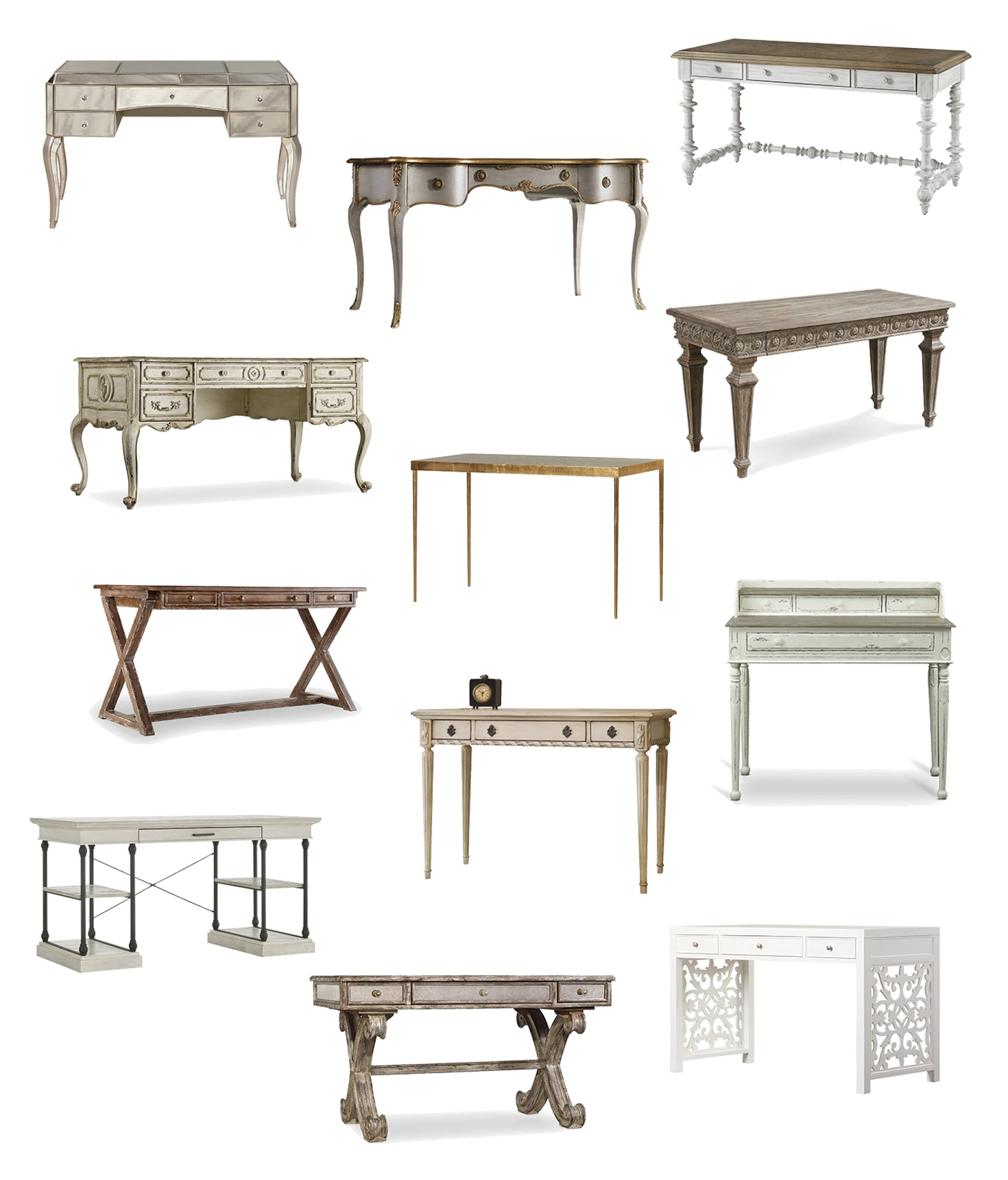 french style writing desks