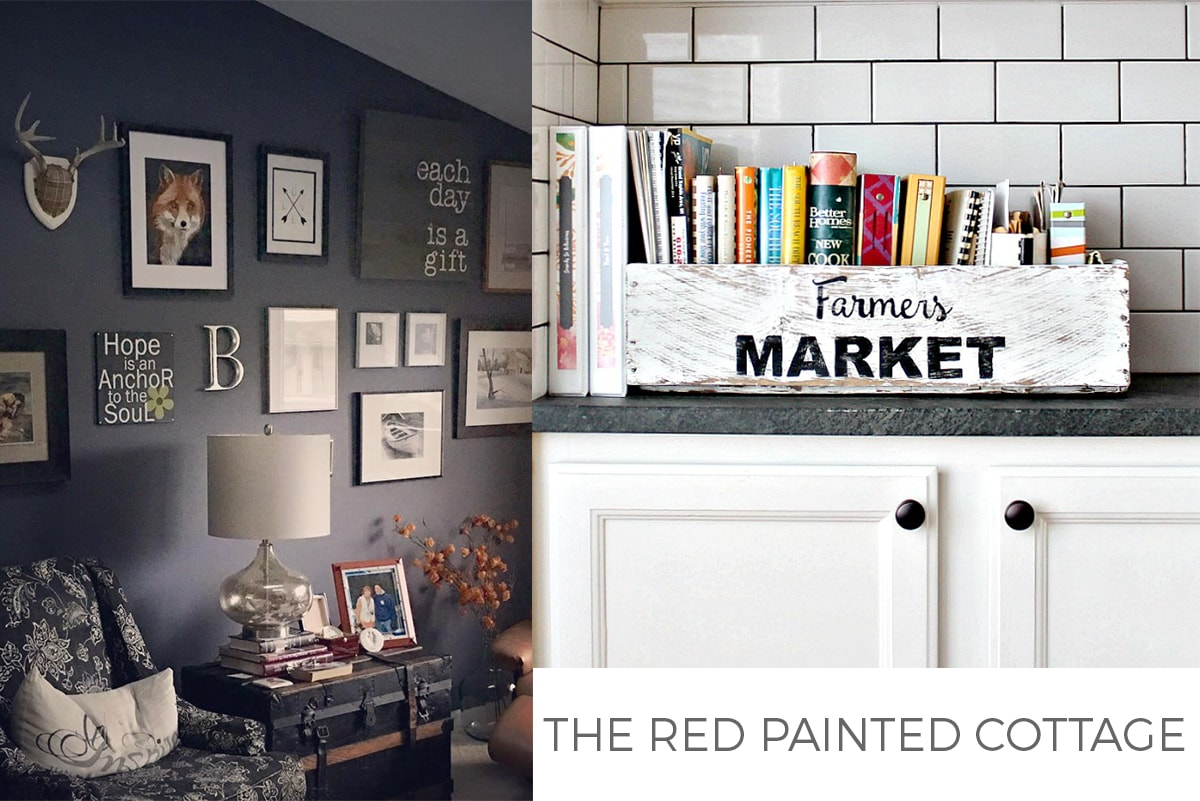 RED PAINTED COTTAGE feature