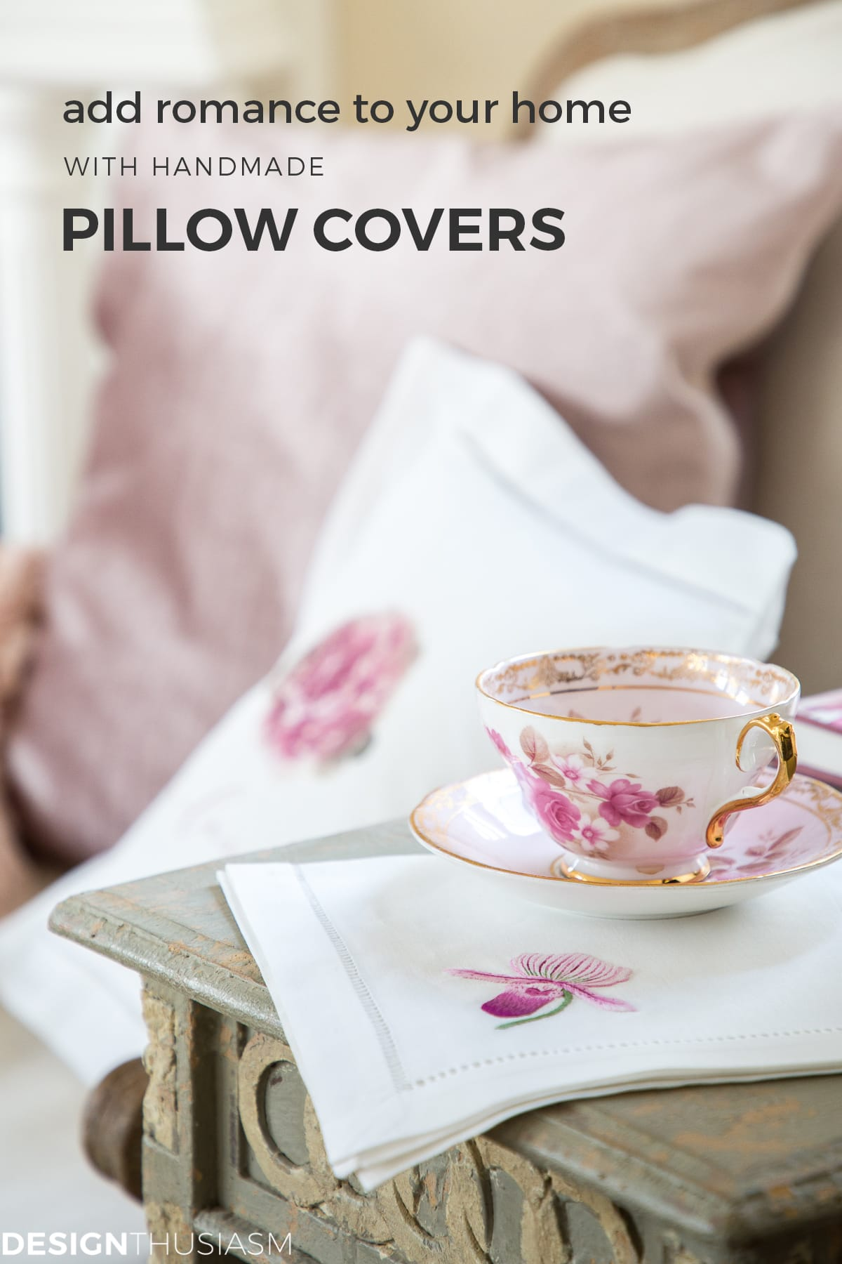 Romantic peony pillow covers