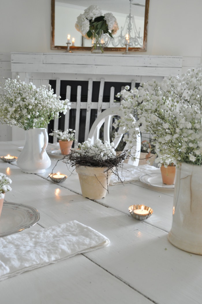 Beckys Farmhouse Easter Table