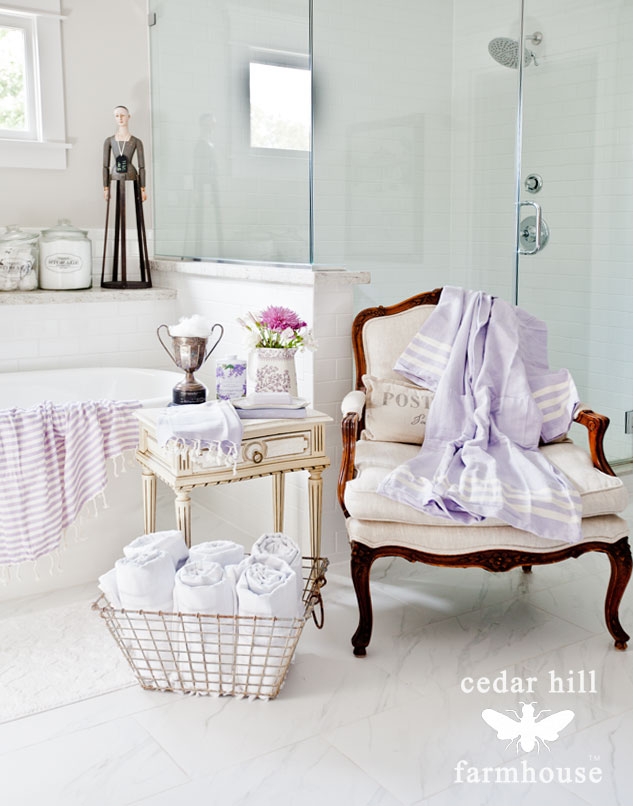 White master bath Inspiration - - Cedar Hill Farmhouse