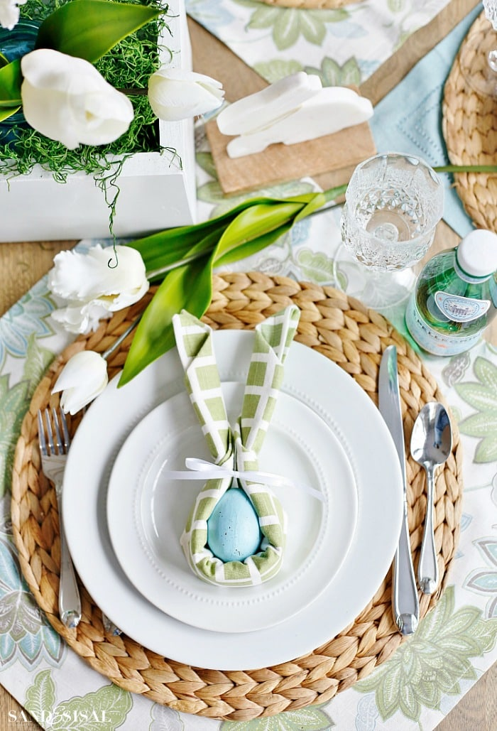 Easter Bunny Napkin Fold
