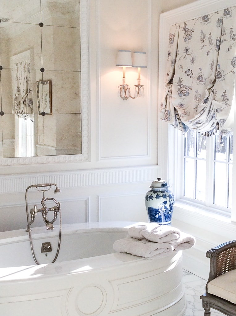 White master bath Inspiration - Enchanted Home