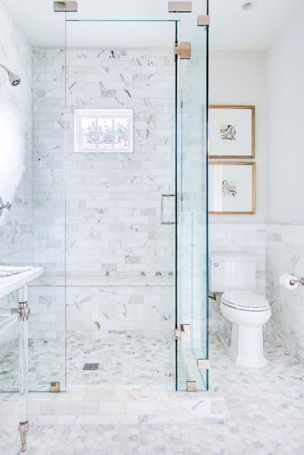 White master bath Inspiration - Hooked on Houses