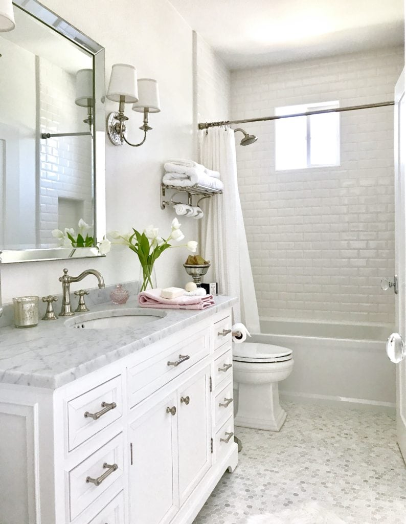 White master bath Inspiration - Kristy Wicks