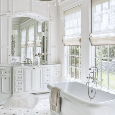 Master Bathroom Inspiration: The Beauty of White Marble Tile