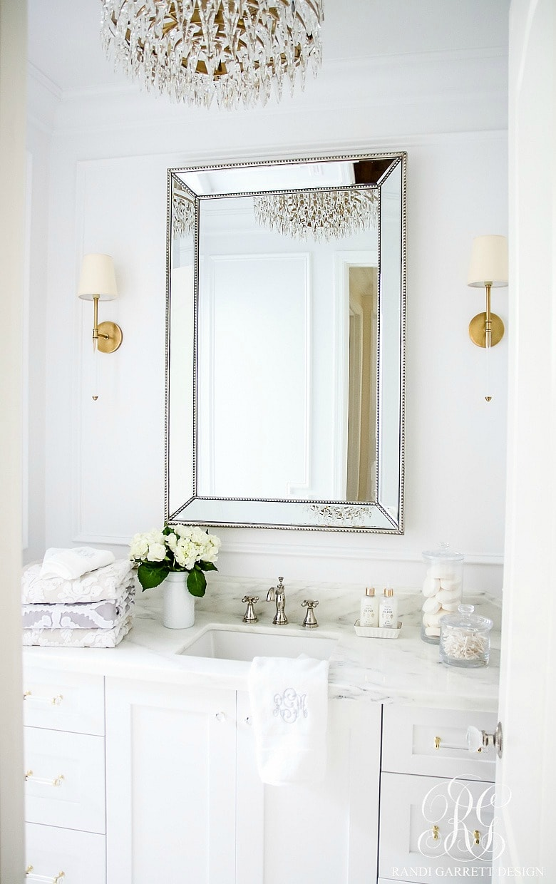 White master bath Inspiration - Randi Garrett Designs