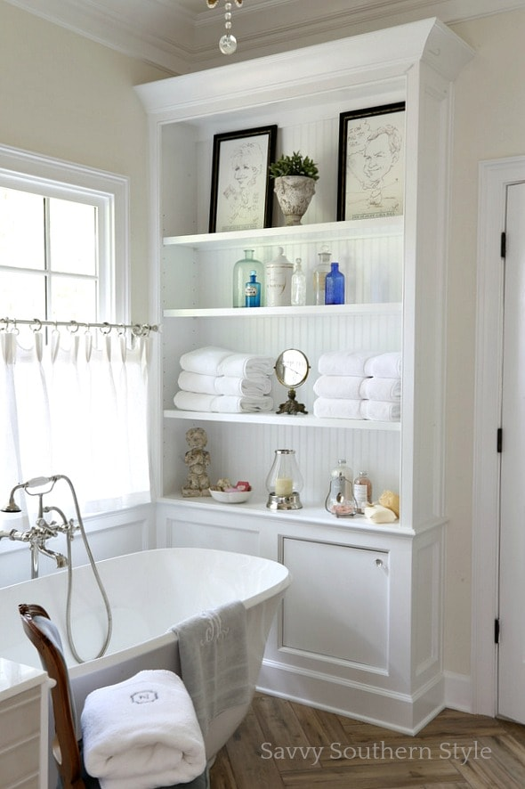 White master bath Inspiration - Savvy Southern Style