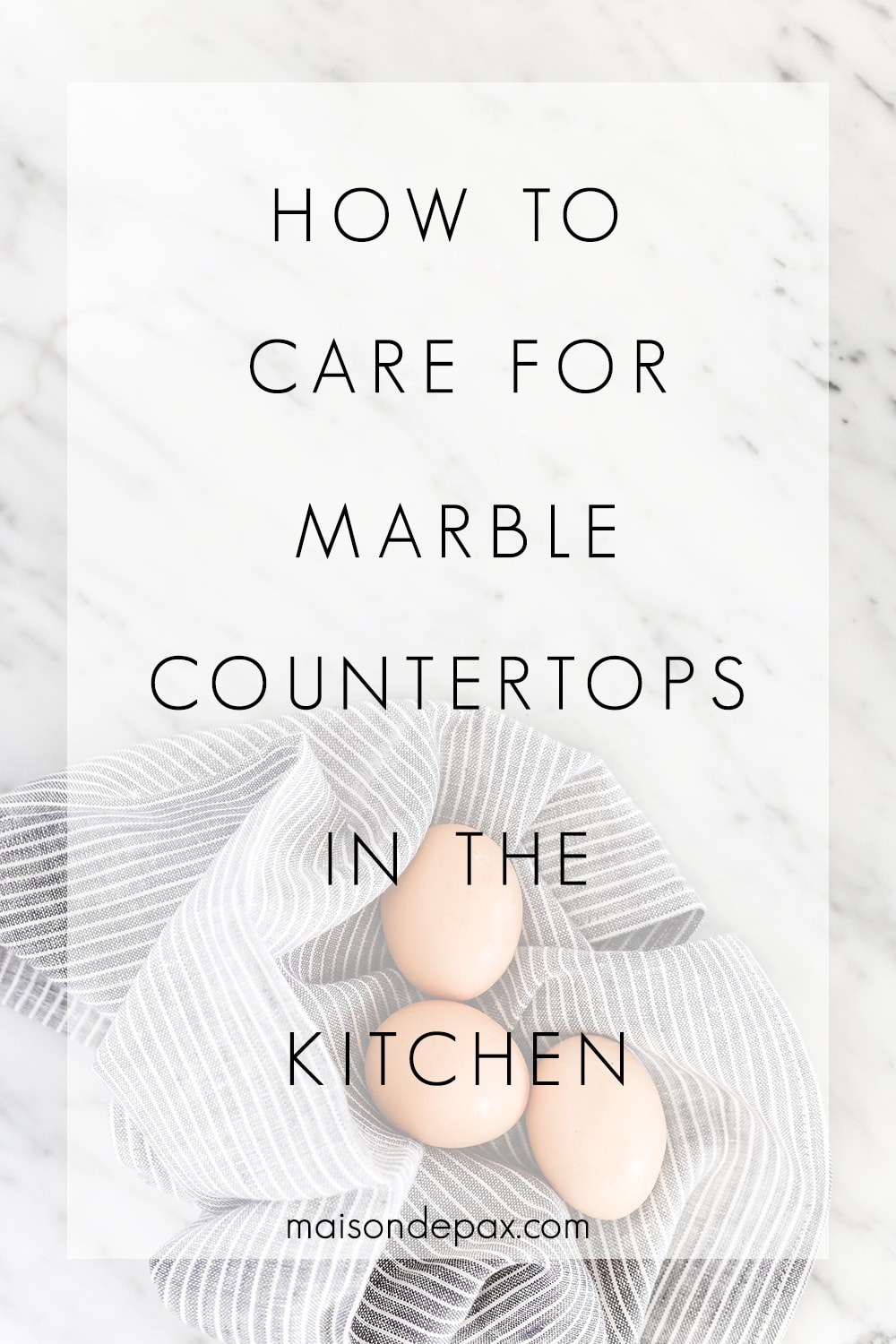 care for marble counters overlay