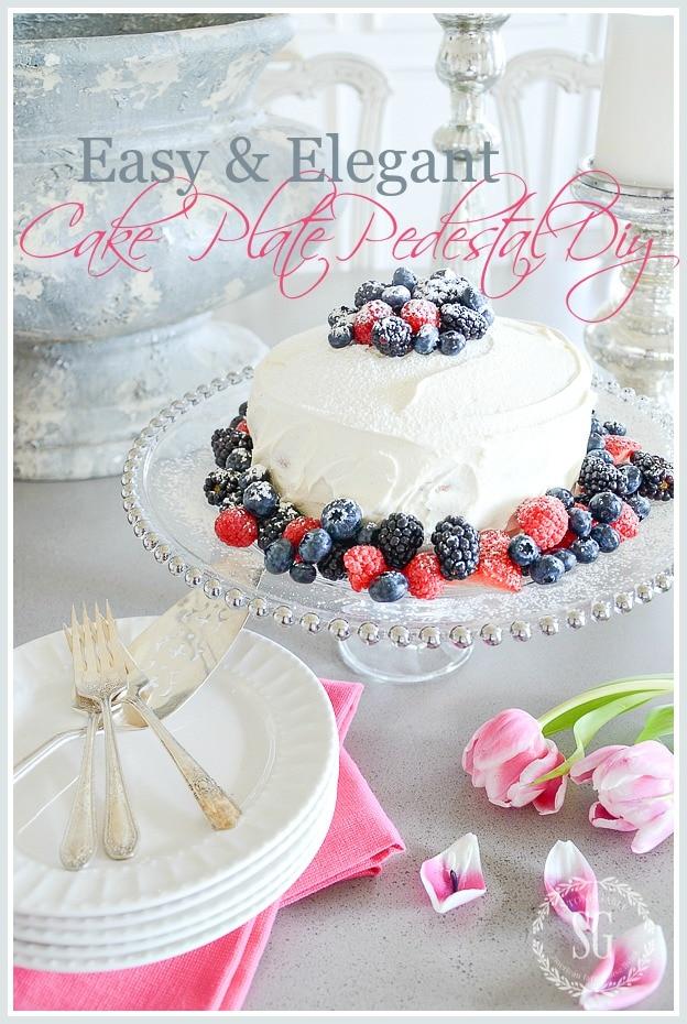 10 MINUTE CAKE PLATE PEDESTAL-title-page-stonegableblog