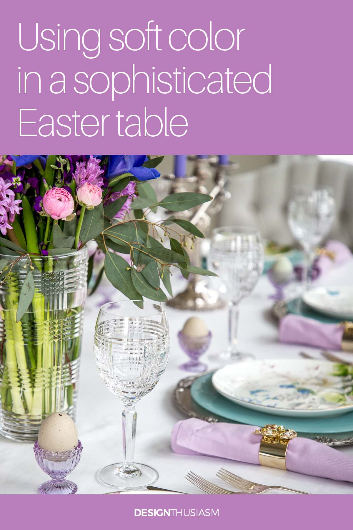 Soft Lilac Easter table