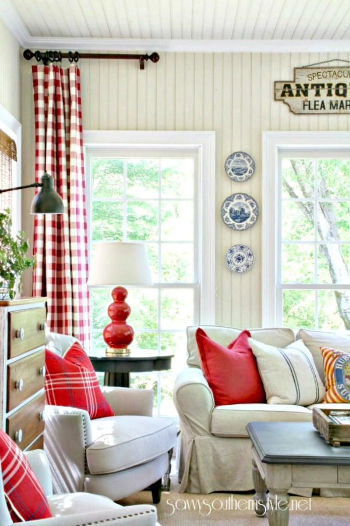 Savvy Southern Style spring sunroom