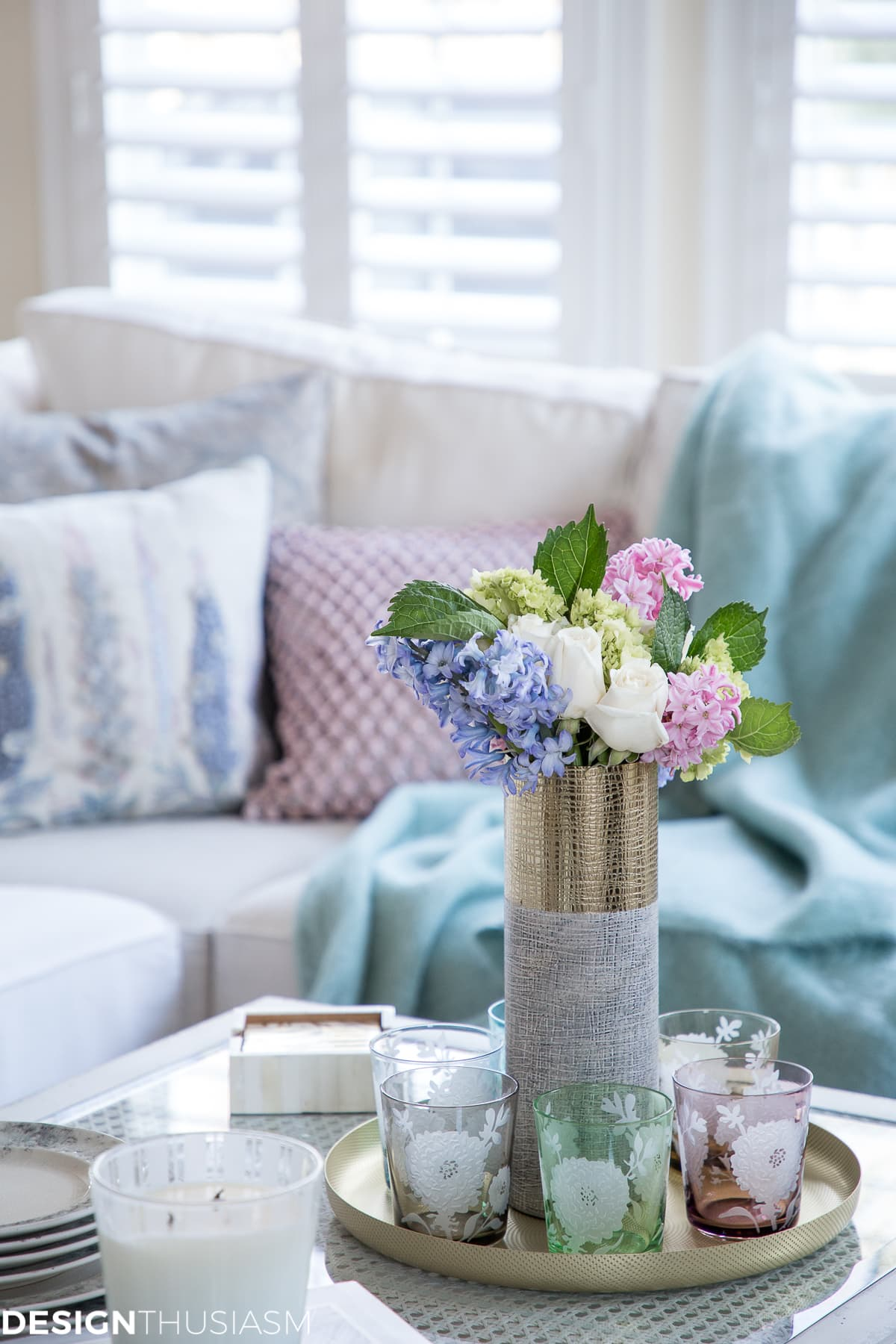 Spring Decor How To Use Accessories To Add Color To A Neutral Home