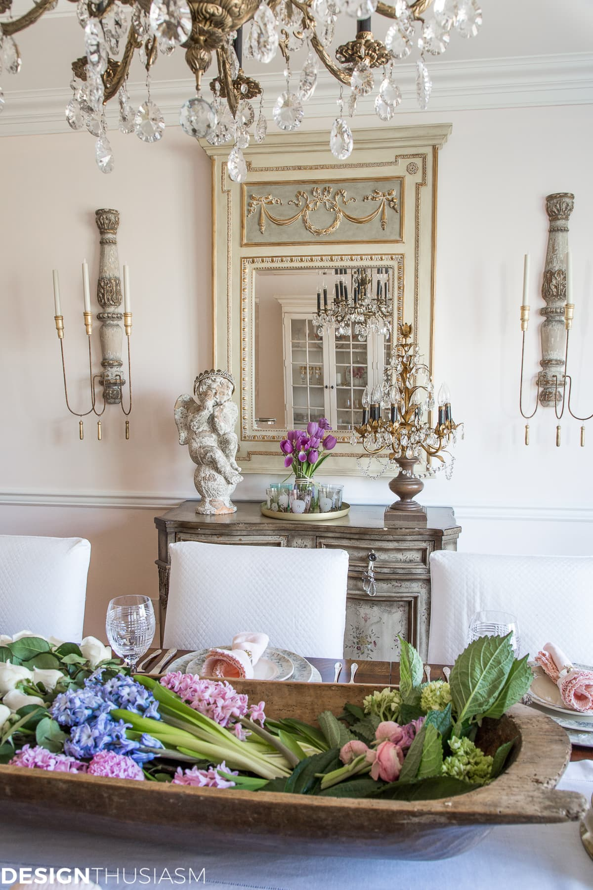 Spring Decorating Ideas Dining Room - designthusiasm.com
