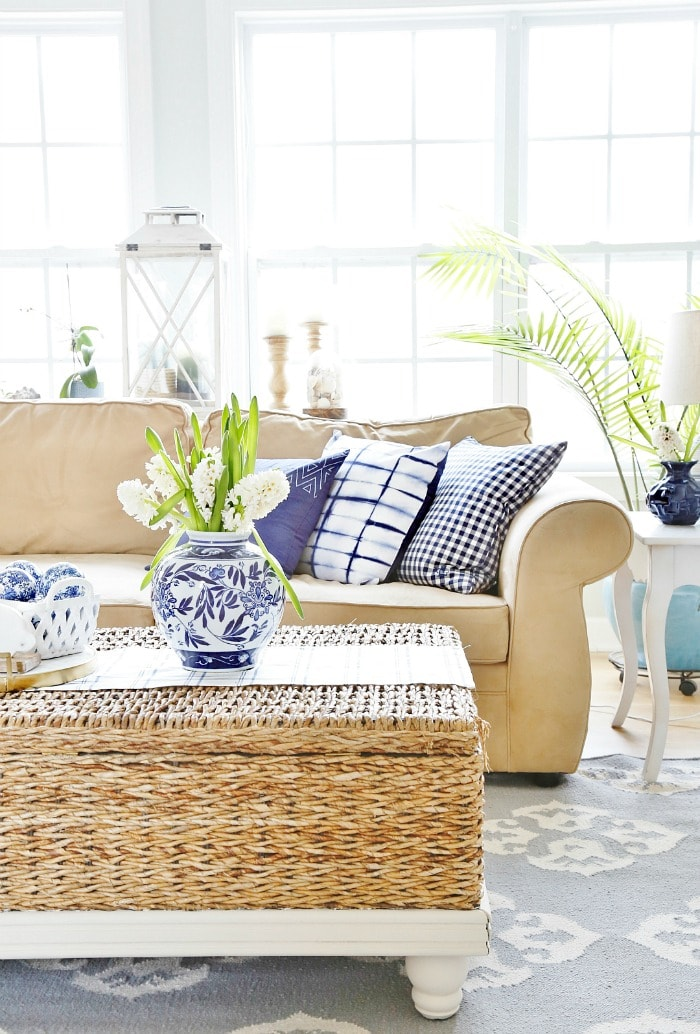 Spring Family Room Tour - Sand and Sisal