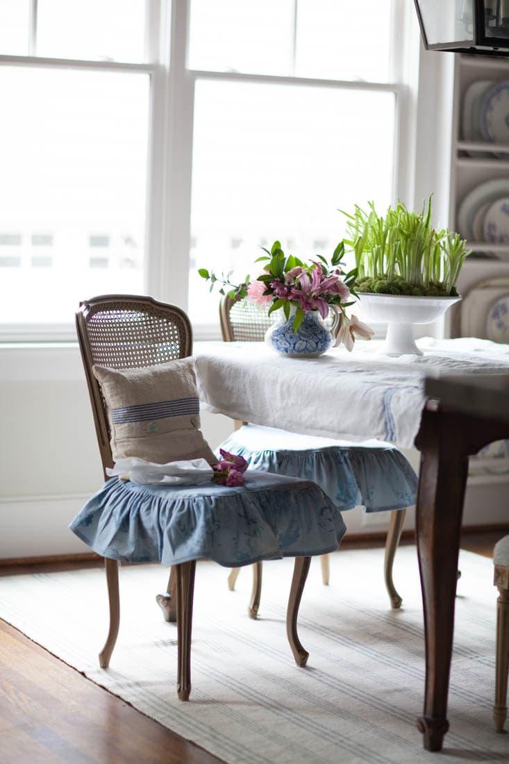 Blue French Chair Slipcovers Cedar Hill Farmhouse