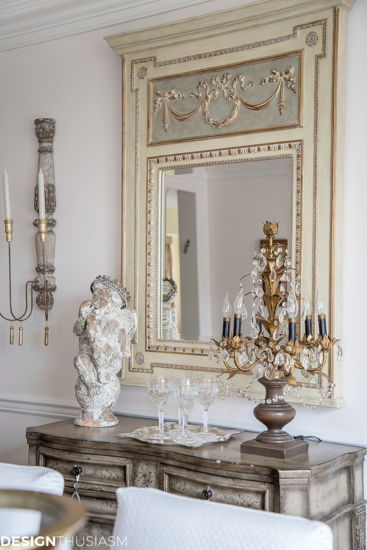 french trumeau decorative mirrors add french country style to the dining room