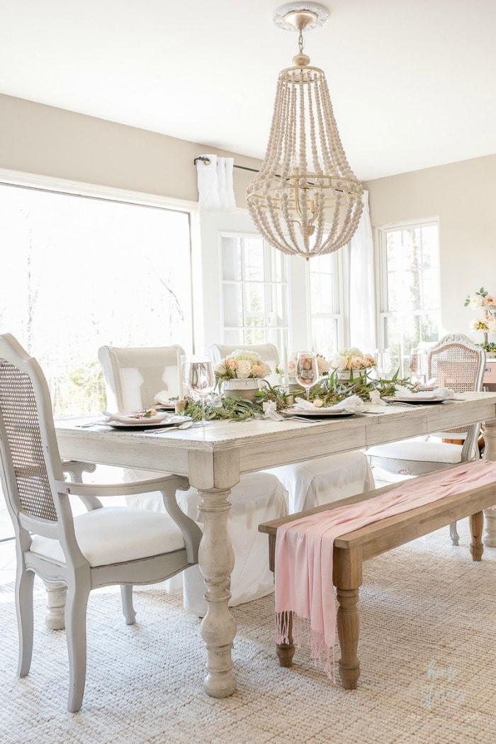 spring dining room blush and white-homestoriesatoz