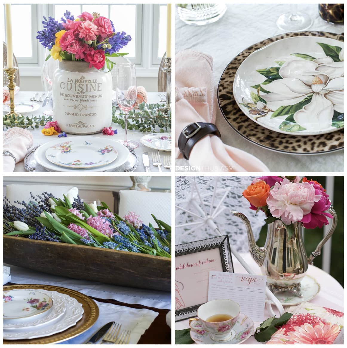 Seasonal Entertaining Spring Table Decorations