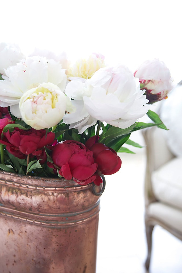 peonies in copper shabbyfufu