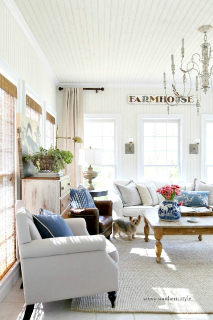 casual spring sun room