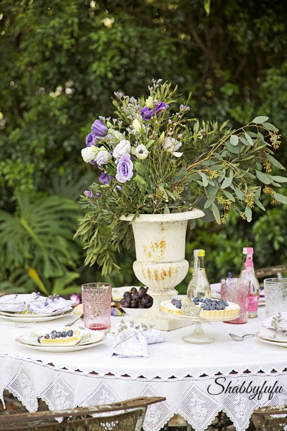 French country outdoor table setting shabbyfufu