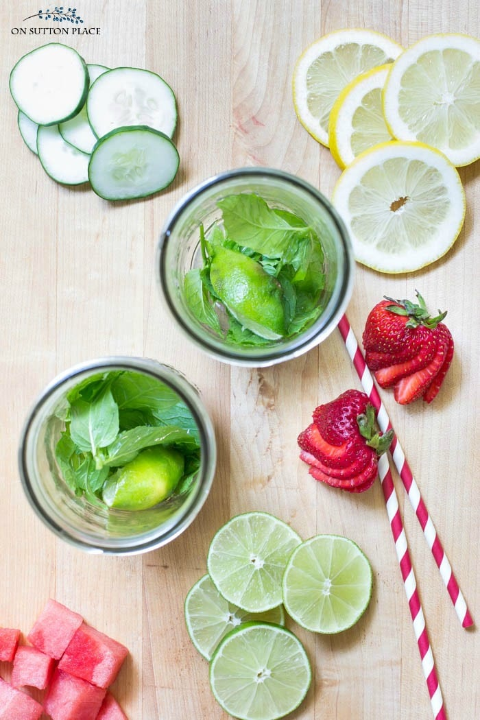 Fruit Infused Water Recipe from On Sutton Place