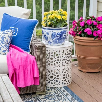 Outdoor Living Spaces: Updating the Patio with Summer Color