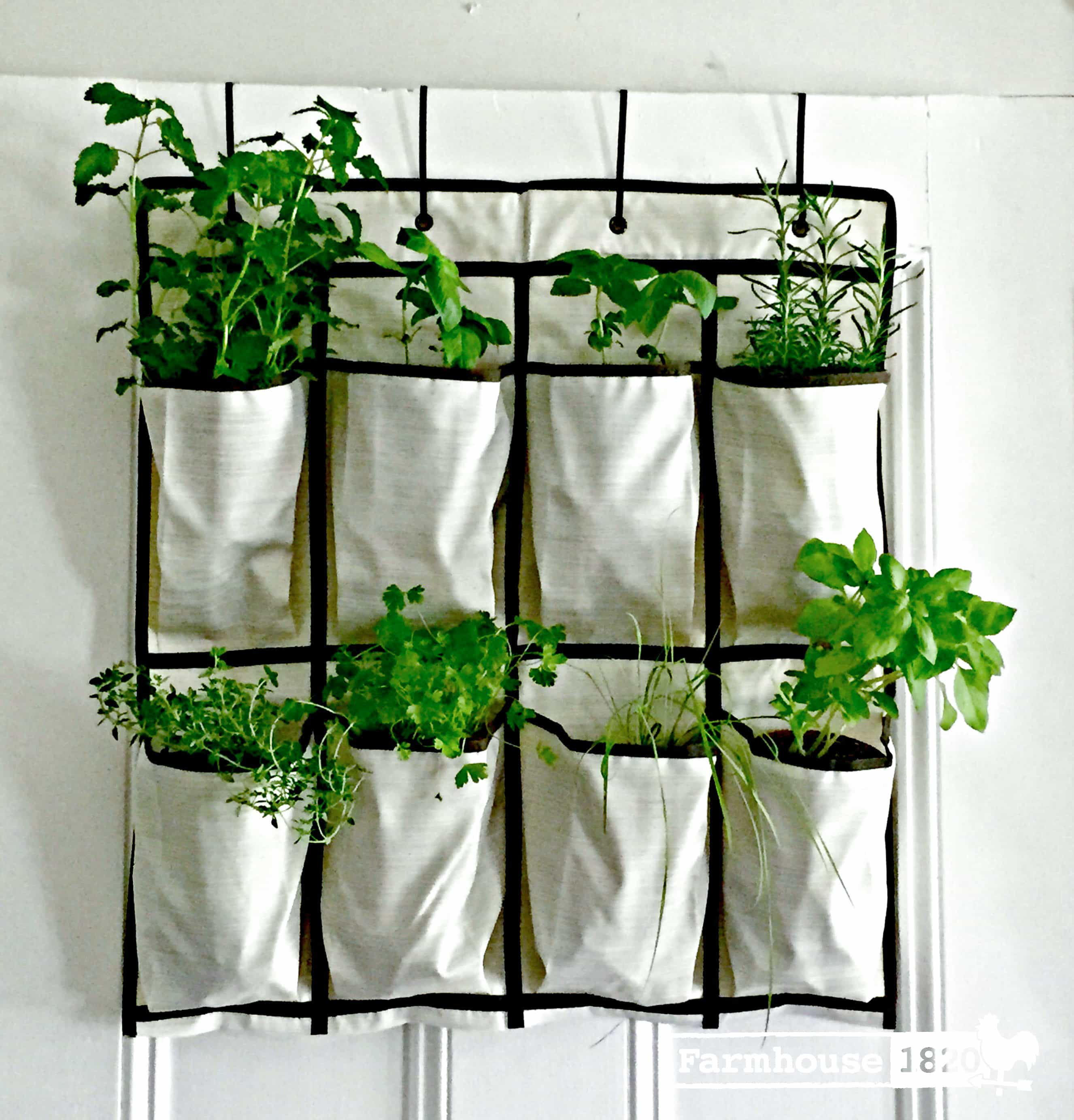 Quick & Easy DIY Vertical Hanging Garden - Farmhouse 1820